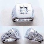150ダイヤ五光留彫金印台