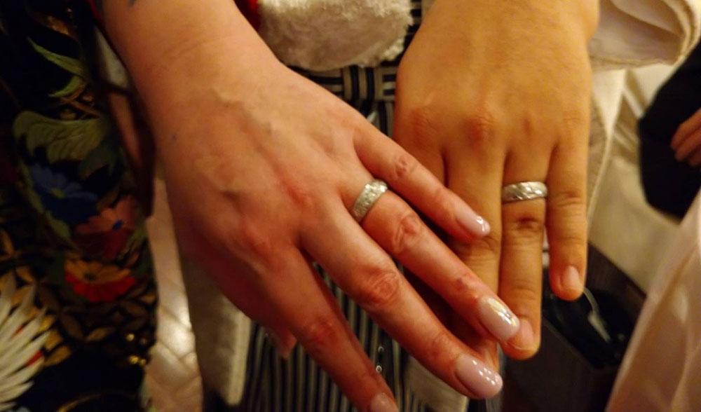 純プラチナ結婚リング